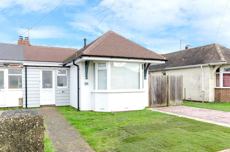 2 Bedrooms Semi Detached Bungalow for sale in Orient Road, Lancing, West Sussex, BN15