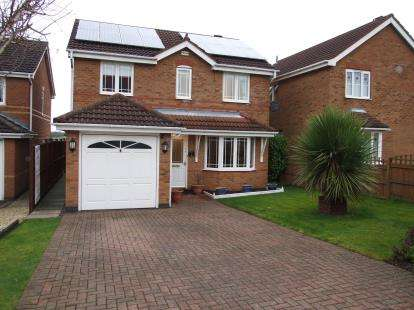3 Bedrooms Detached House for sale in Byrton Drive, Ellistown, Coalville