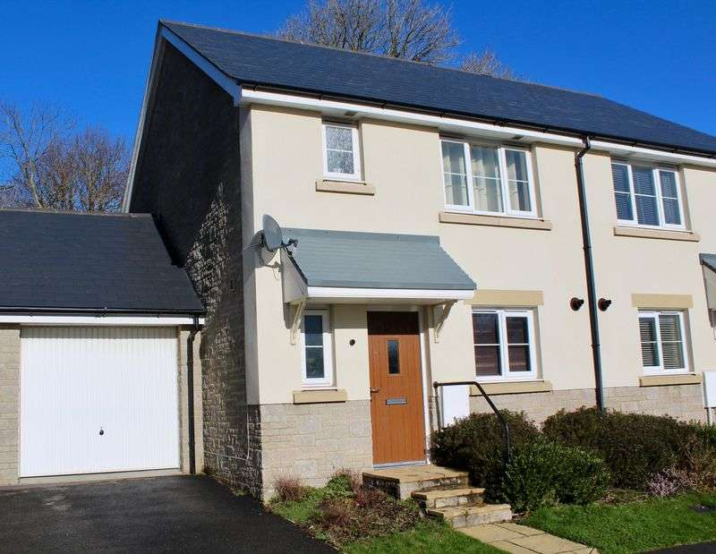 3 Bedrooms Semi Detached House for sale in Trelowen Drive, Penryn
