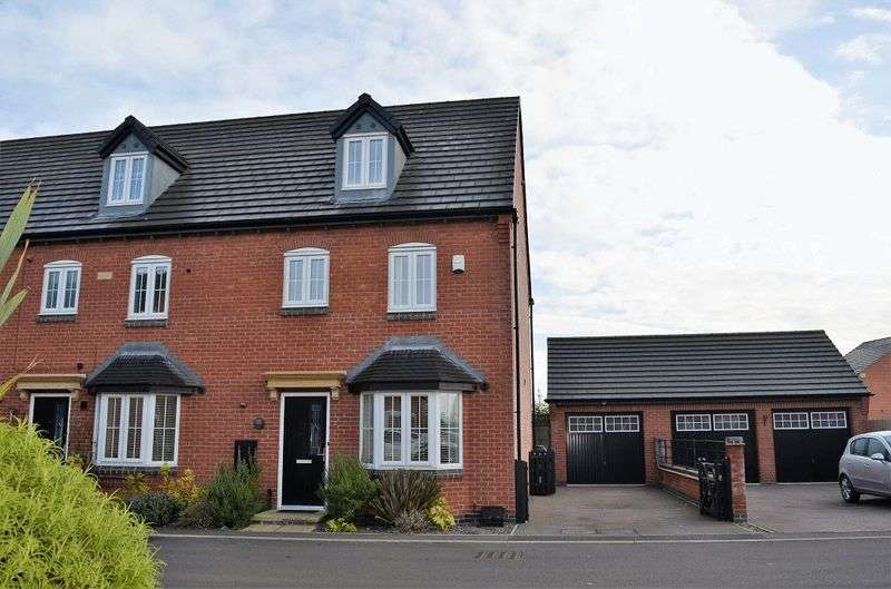 4 Bedrooms Terraced House for sale in John Frear Drive, Syston, Leicestershire