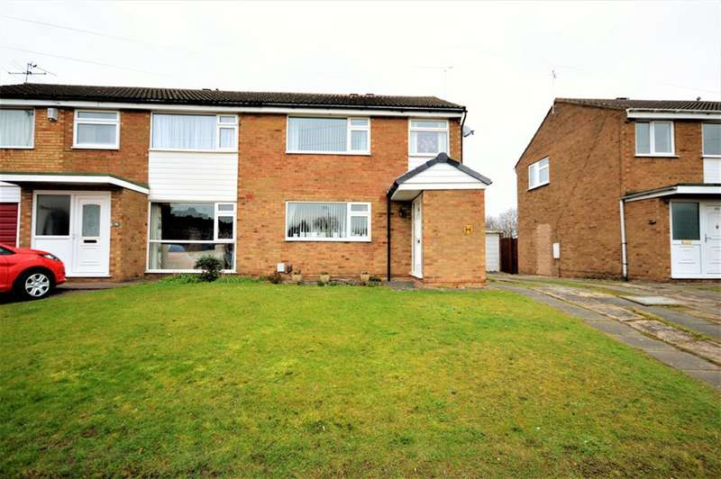 3 Bedrooms Semi Detached House for sale in Gwendoline Drive, Countesthorpe, Leicester, LE8 5SF