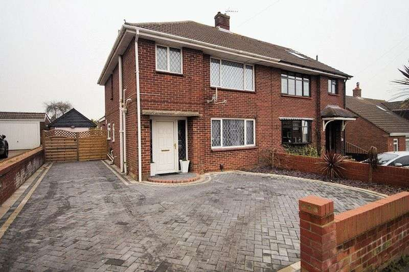 3 Bedrooms Semi Detached House for sale in Richmond Rise, Portchester, Fareham, PO16