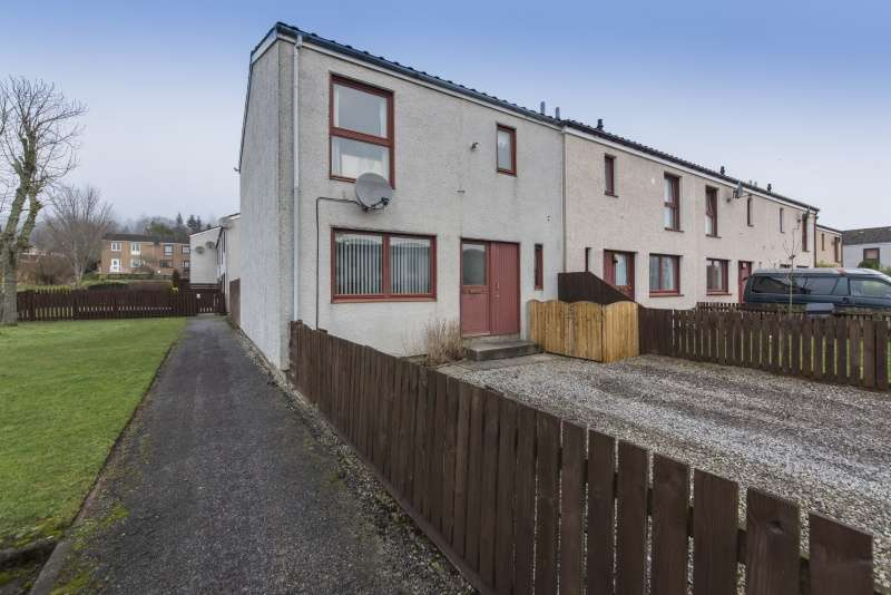 3 Bedrooms End Of Terrace House for sale in Teandallon Place, Evanton, Dingwall, Highland, IV16 9YU