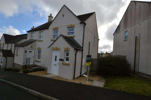 2 Bedrooms Semi Detached House for sale in Grassmere Way, Pillmere, Saltash, Cornwall