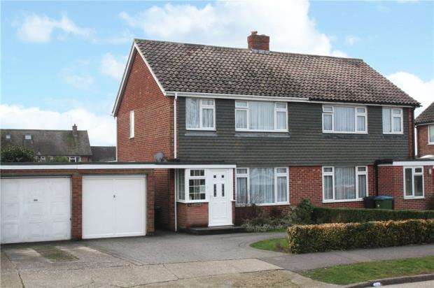 3 Bedrooms Semi Detached House for sale in Chantryfield Road, Angmering, West Sussex, BN16