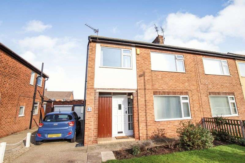 3 Bedrooms Semi Detached House for sale in Ryehills Drive, Redcar