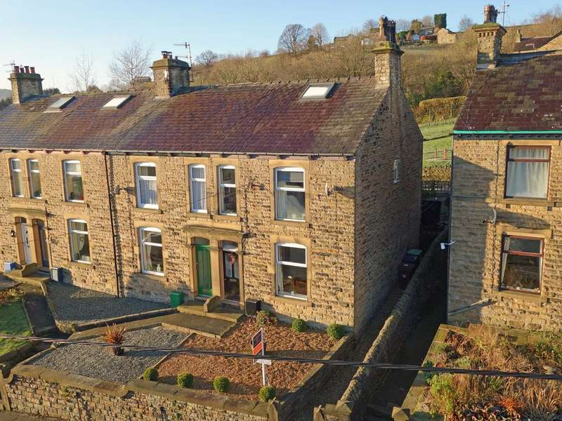 4 Bedrooms End Of Terrace House for sale in Mellor Road, New Mills, High Peak, Derbyshire, SK22 4DP