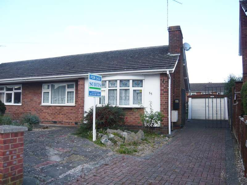 2 Bedrooms Semi Detached Bungalow for sale in Wigston, Anglesey Road LE18