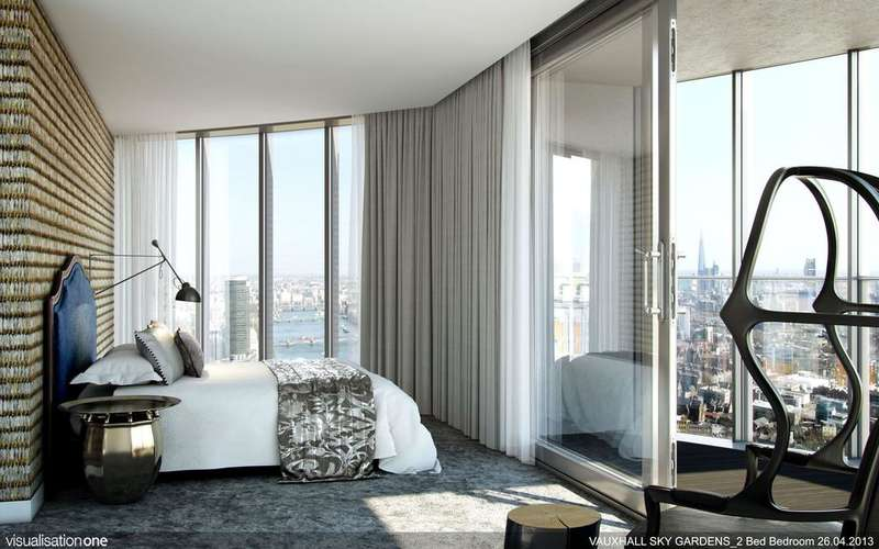 2 Bedrooms Apartment Flat for sale in Sky Gardens, London SW8