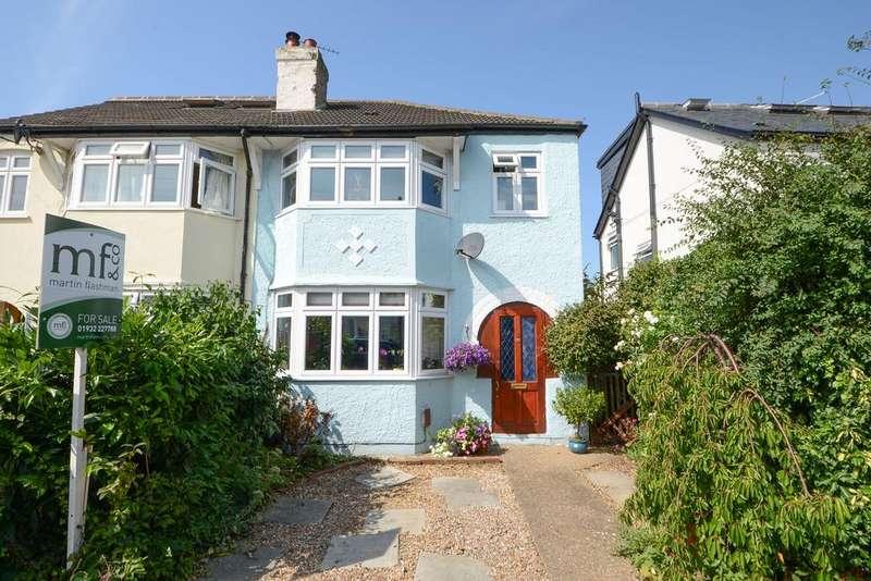 3 Bedrooms Semi Detached House for sale in Melrose Gardens, HERSHAM VILLAGE KT12