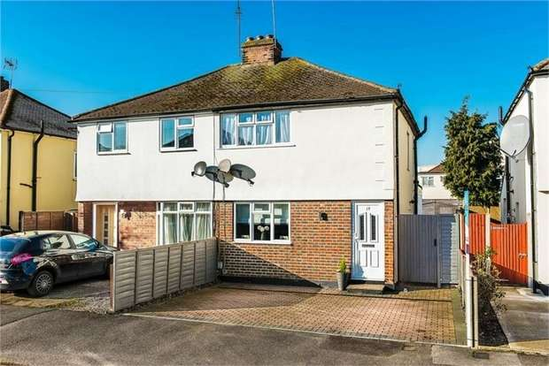 2 Bedrooms Semi Detached House for sale in Thrupps Avenue, Hersham, Surrey
