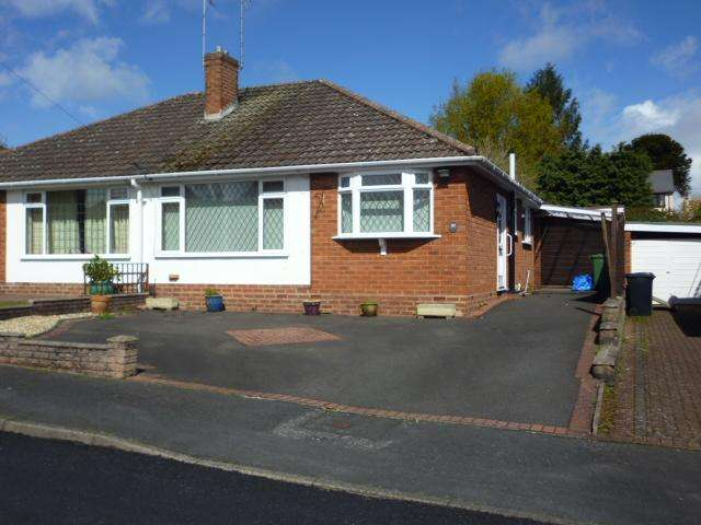 2 Bedrooms Semi Detached Bungalow for sale in MERIDEN CLOSE , OFF MERIDEN AVENUE, WOLLASTON, STOURBRIDGE DY8