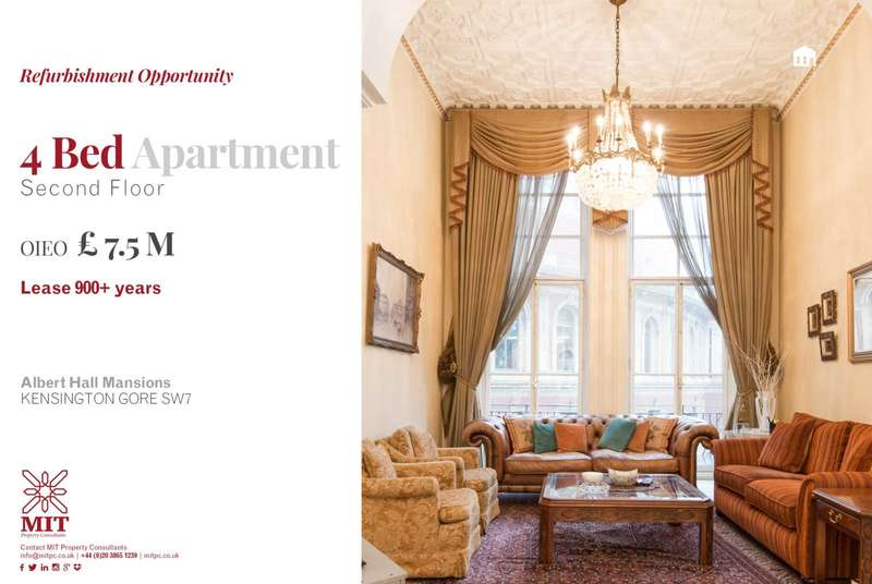 4 Bedrooms Apartment Flat for sale in Albert Hall Mansions, Kensington Gore