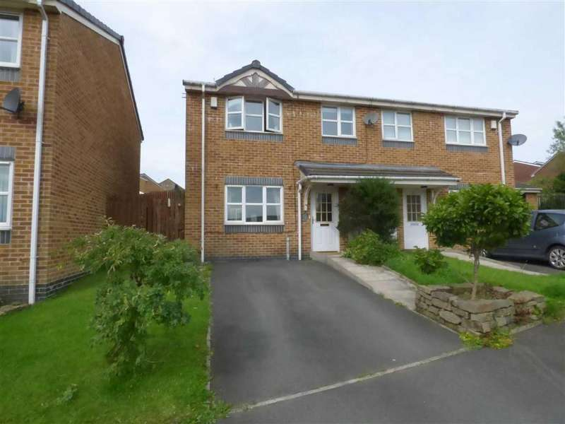 3 Bedrooms Semi Detached House for sale in Deerplay Drive, Weir, Bacup, Lancashire, OL13