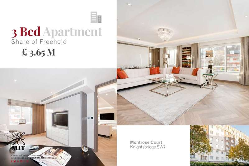 3 Bedrooms Apartment Flat for sale in Exhibition Road, South Kensington