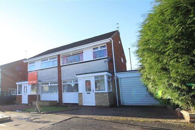 3 Bedrooms Semi Detached House for sale in Chichester Close, Newcastle Upon Tyne, NE3