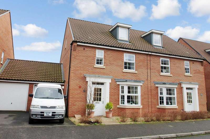 4 Bedrooms Semi Detached House for sale in Collett Road, Norton Fitzwarren