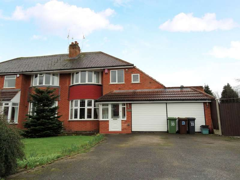 4 Bedrooms Semi Detached House for sale in Wells Green Road, Solihull