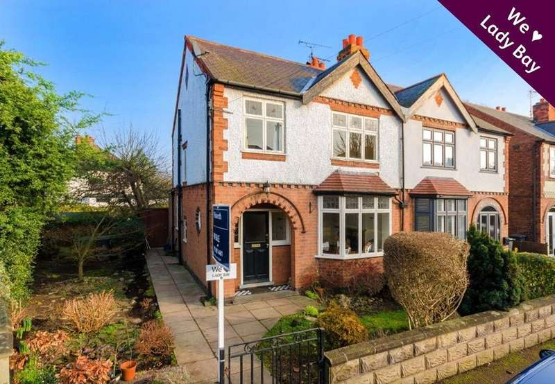 3 Bedrooms Semi Detached House for sale in Rutland Road, West Bridgford, Nottingham, NG2