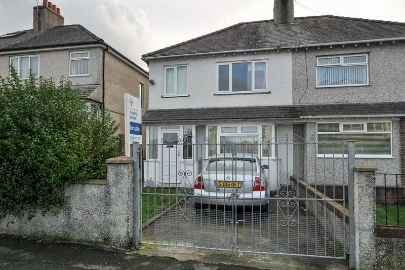 3 Bedrooms Semi Detached House for sale in Victoria Road, Caernarfon, North Wales