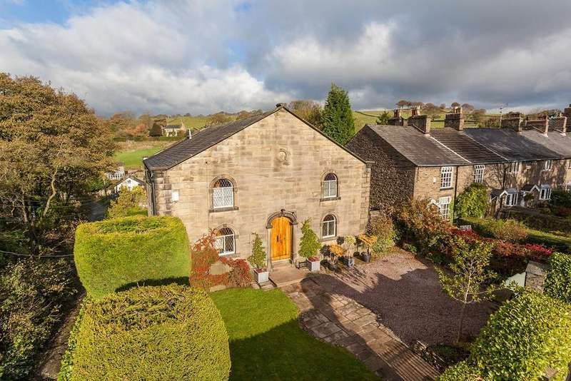 4 Bedrooms Detached House for sale in Moor End Road, Mellor