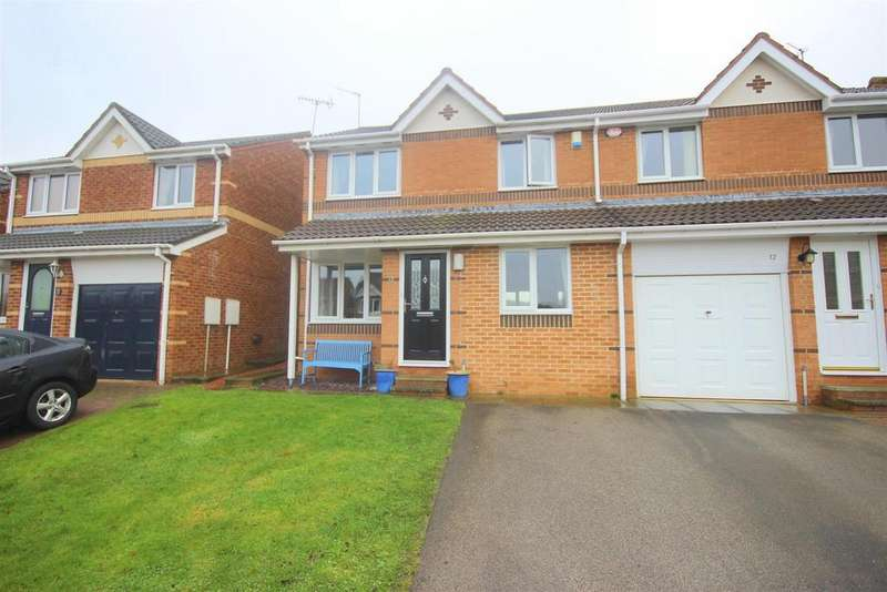 4 Bedrooms Semi Detached House for sale in Coldingham Court, Sacriston, Durham