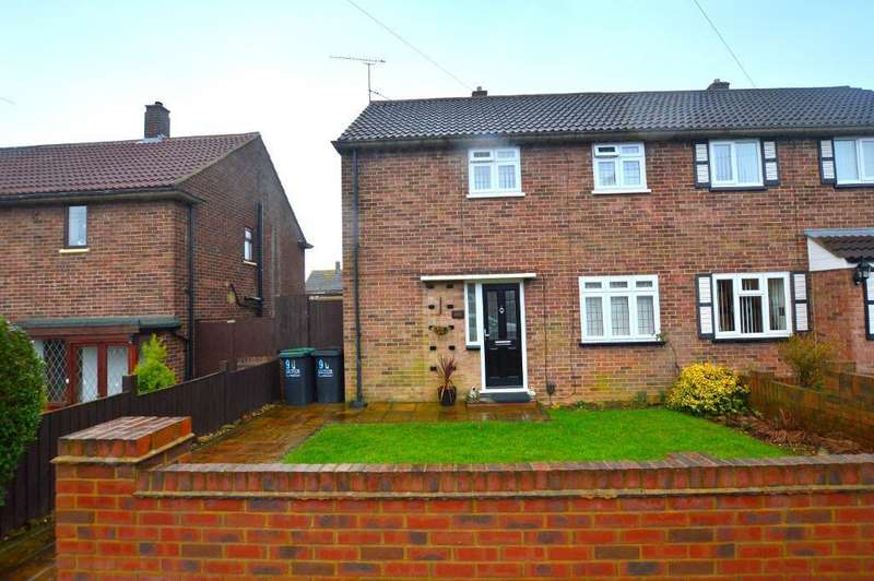 3 Bedrooms Semi Detached House for sale in Runfold Avenue, Luton, Bedfordshire, LU3 2EL