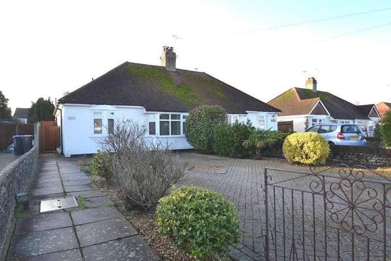 2 Bedrooms Semi Detached Bungalow for sale in Sunningdale Road, Worthing, West Sussex, BN13 2NF