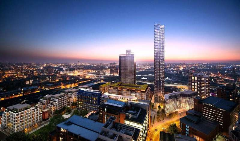 2 Bedrooms Flat for sale in St John's, South Village, Block 403, Manchester, M3