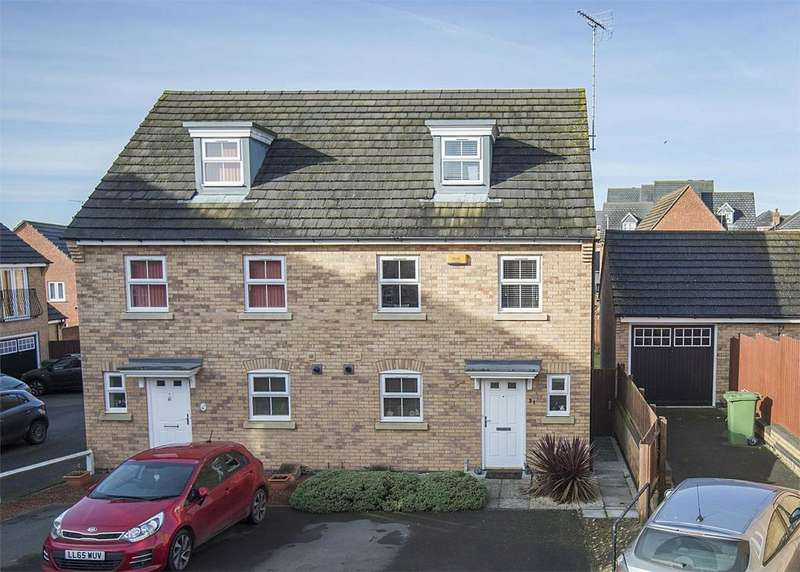 3 Bedrooms Semi Detached House for sale in Newbury Close, Corby, Northamptonshire