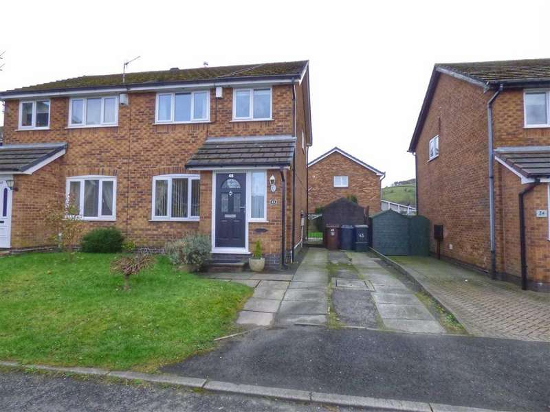 3 Bedrooms Semi Detached House for sale in Appleton Drive, Glossop, Derbyshire, SK13
