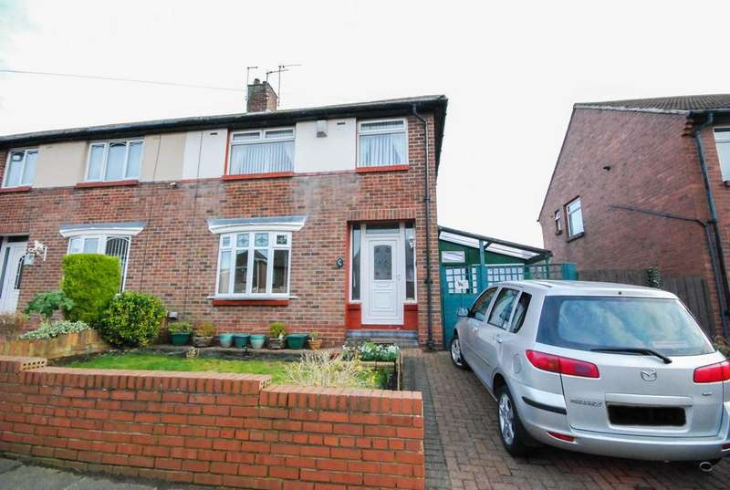 3 Bedrooms Semi Detached House for sale in Dunelm Drive, West Boldon