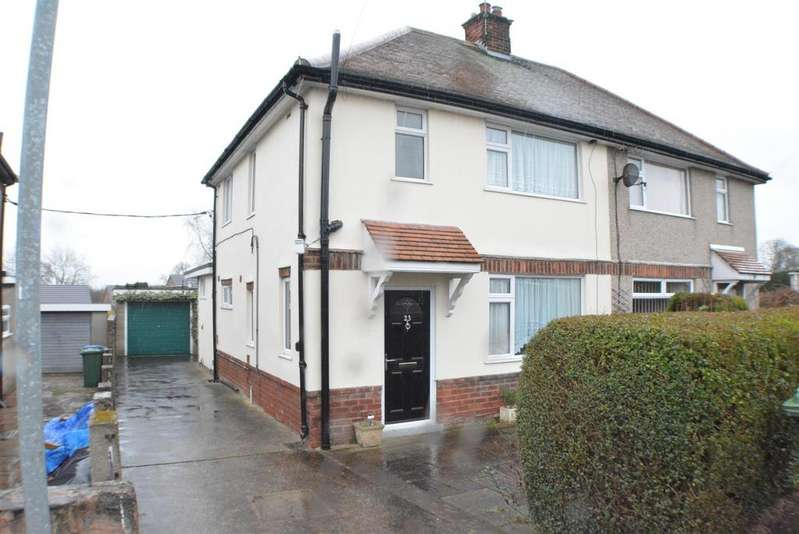 3 Bedrooms Semi Detached House for sale in Mosscar Close, Spion Kop, Mansfield