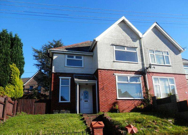3 Bedrooms Semi Detached House for sale in Kelvin Road, Clydach, Swansea.