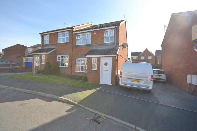 3 Bedrooms Semi Detached House for sale in Tudor Rose Way, Norton Heights, Stoke-On-Trent
