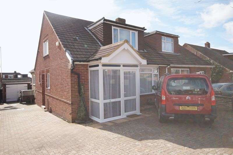 3 Bedrooms Semi Detached Bungalow for sale in Linden Lea, Portchester, Fareham, PO16