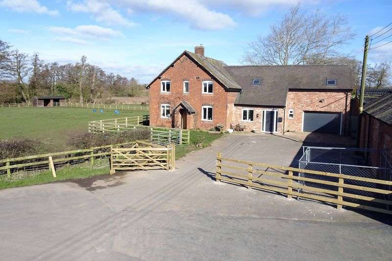 5 Bedrooms Detached House for sale in Brookfield Farm, Lower Ruele, Staffordshire