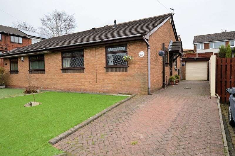 2 Bedrooms Semi Detached Bungalow for sale in Greenbrook Close, Bury