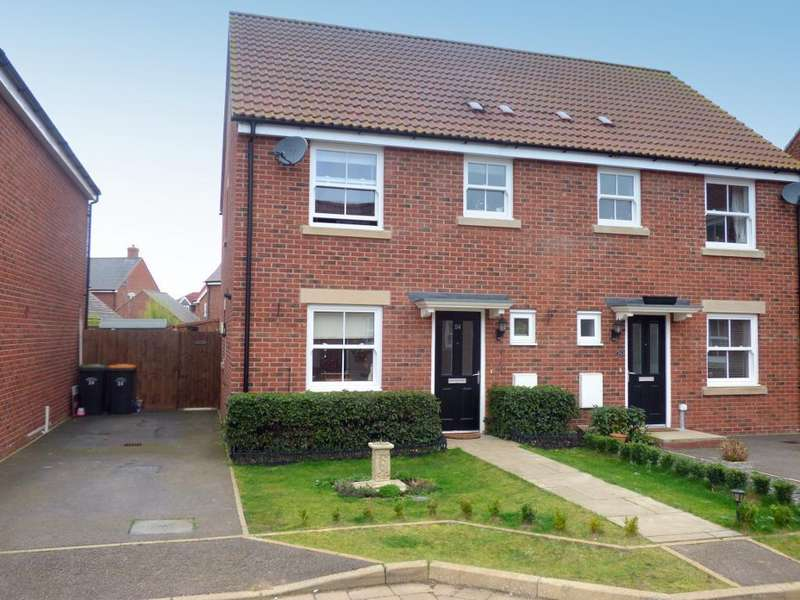 3 Bedrooms Semi Detached House for sale in Swift Way, Wixams, Bedfordshire, MK42 6AU
