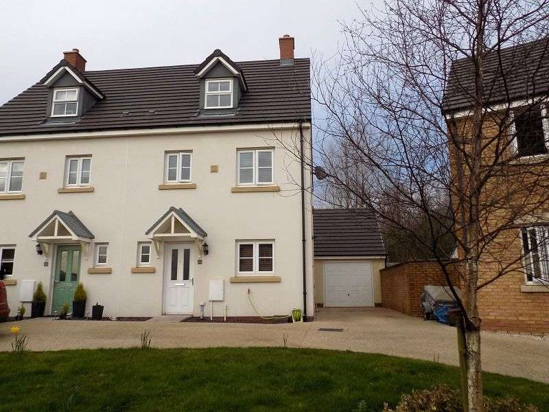 4 Bedrooms Semi Detached House for sale in 56 Ffordd Y Grug , Coity, Bridgend. CF35 6BQ