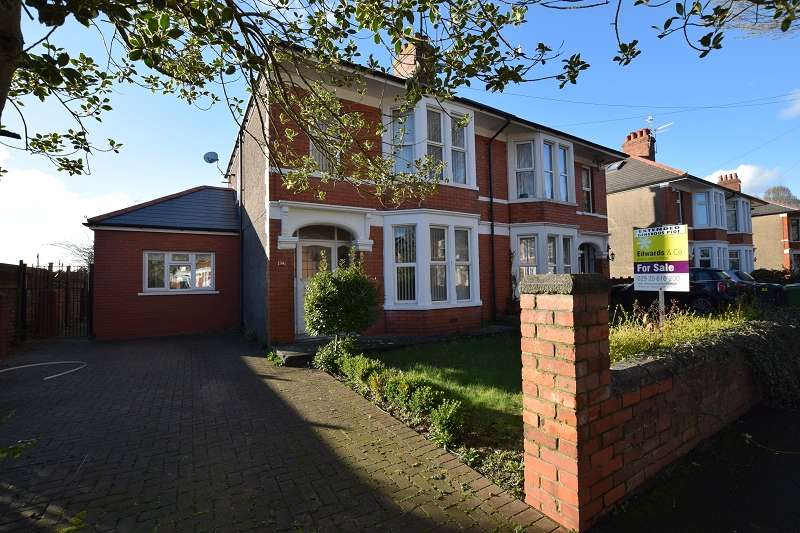 3 Bedrooms Semi Detached House for sale in Kyle Crescent, Rhiwbina, Cardiff. CF14 1SW