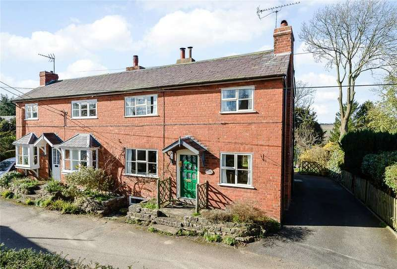 2 Bedrooms Semi Detached House for sale in Eagle Cottages, Orleton, Ludlow, Herefordshire