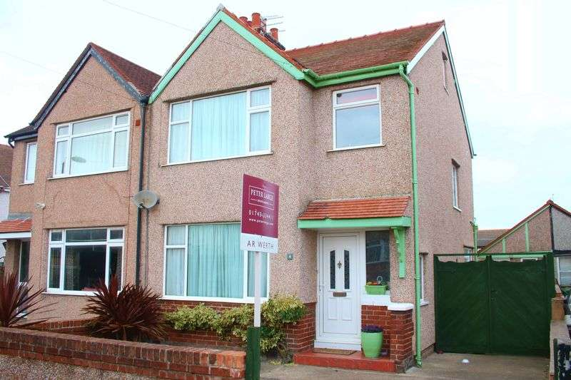 3 Bedrooms Semi Detached House for sale in Holland Park Drive, Rhyl