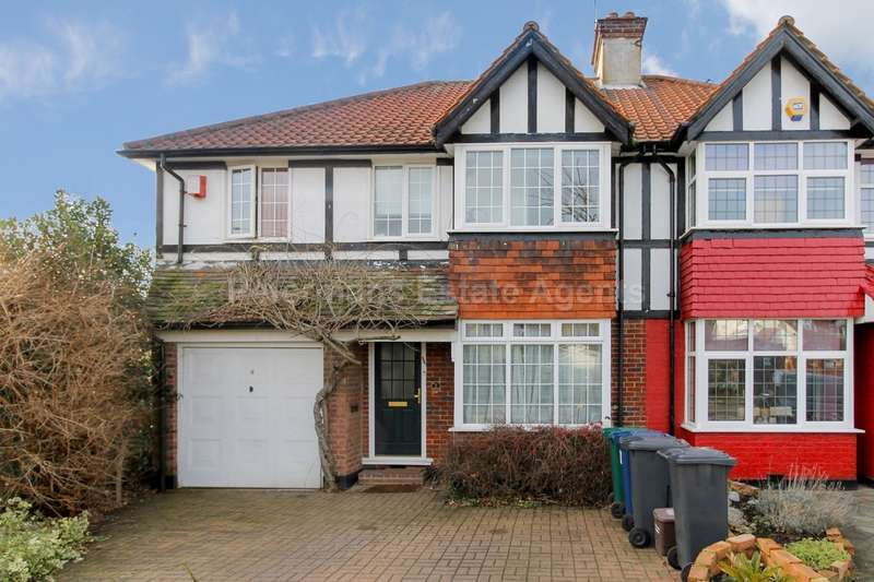 4 Bedrooms Semi Detached House for sale in Stanway Gardens, Edgware, HA8