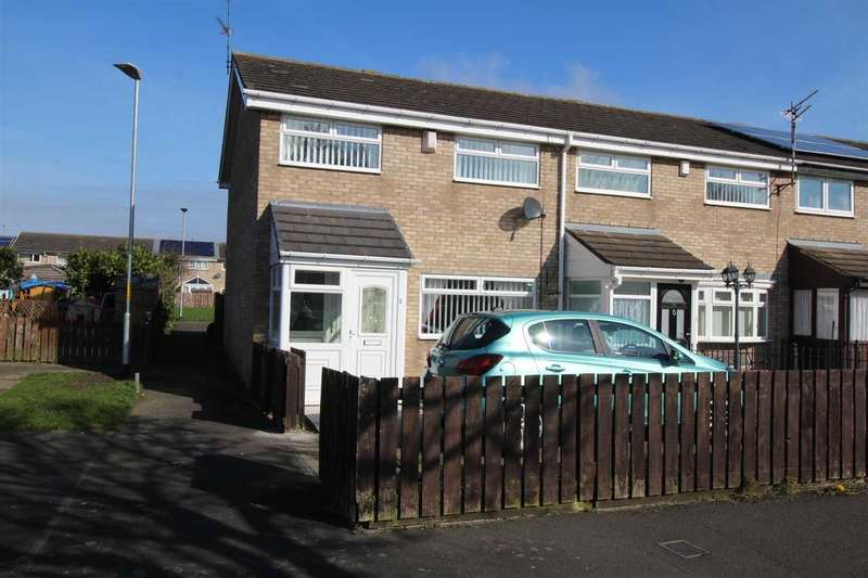 3 Bedrooms Semi Detached House for sale in Axminster Close, Eastfield Lea, Cramlington