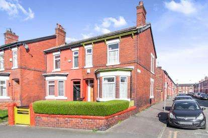 3 Bedrooms End Of Terrace House for sale in Carmoor Road, Manchester, Greater Manchester, Uk