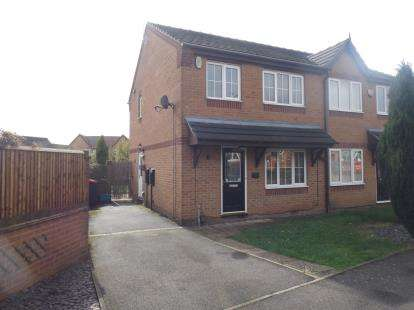 3 Bedrooms Semi Detached House for sale in Crowtrees Drive, Sutton-In-Ashfield, Nottinghamshire