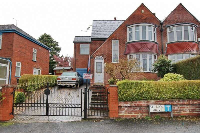 4 Bedrooms Semi Detached House for sale in School Grove, Prestwich, Manchester