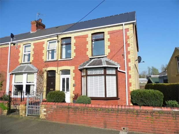 3 Bedrooms End Of Terrace House for sale in St Brides Road, Aberkenfig, Bridgend, Mid Glamorgan