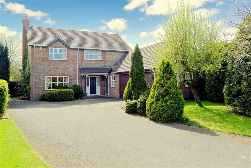 4 Bedrooms Detached House for sale in Brookside, Bicton Village, Shrewsbury, Shropshire